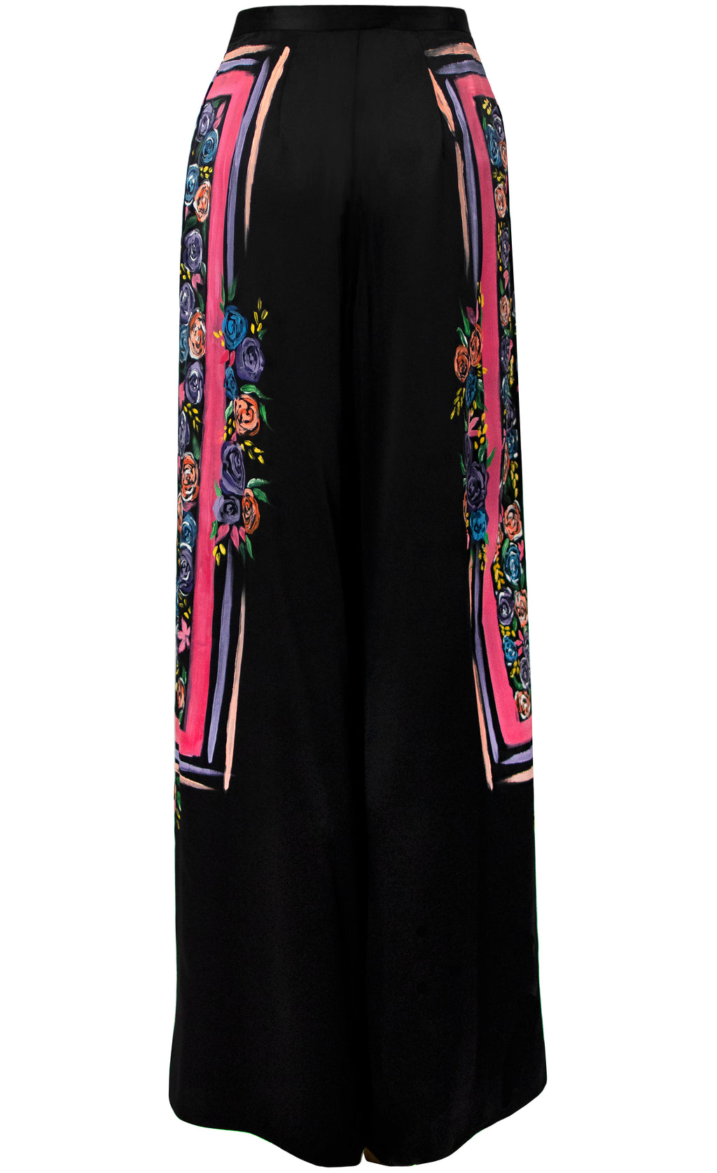 Marienye Painted Black-Satin Pant - KxLNewYork