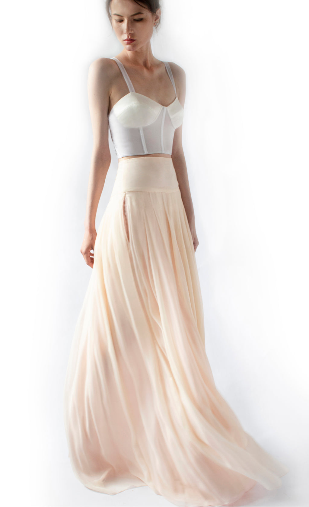 Angela Pleated Maxi-Skirt - KxLNewYork