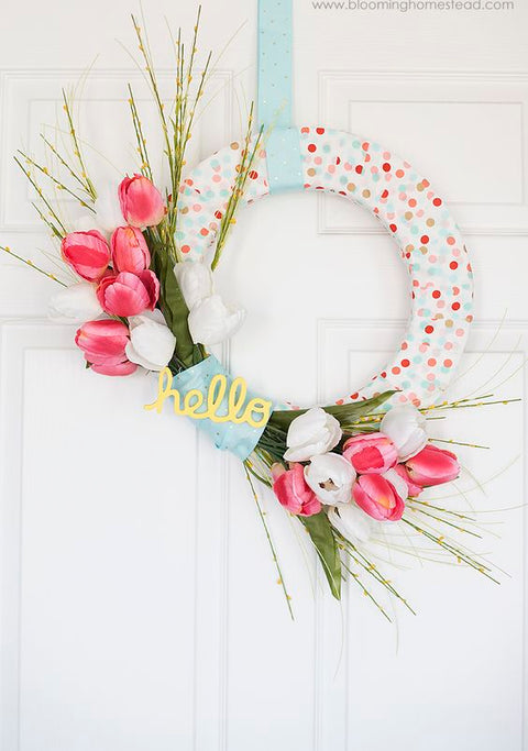 Spring Wreaths: Easy, Lovely & Inexpensive