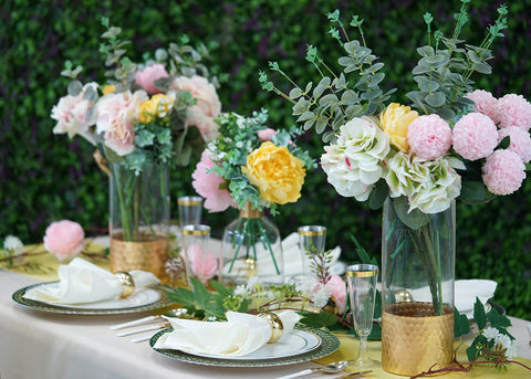 A Refreshing Tablescape for a Cheerful Summer Garden Party