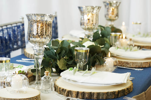 Rustic Glamour: Denim Tablescape from eFavormart