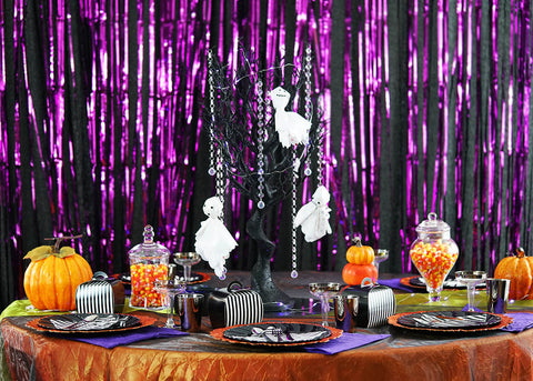 Host a Halloween Party for Kids with a Funky Table Setup