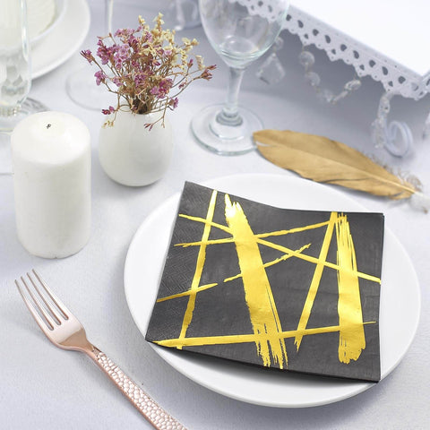 Meet Our New Range of Fabulous Metallic Foil Embellished Paper Napkins