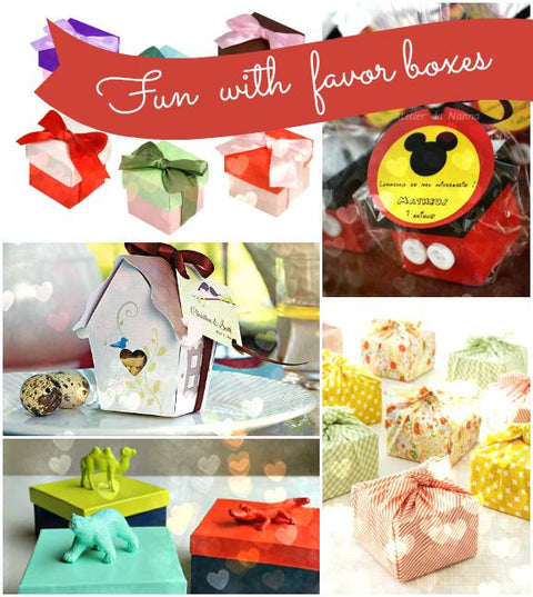 Fun Things to Do With Favor Boxes