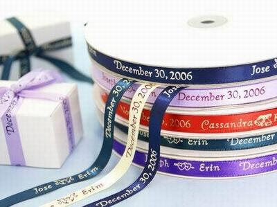 Wedding Ideas with Personalized Ribbon