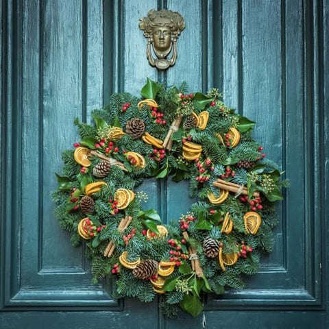 Add a Festive Cheer to your Front Door with a Christmas Wreath