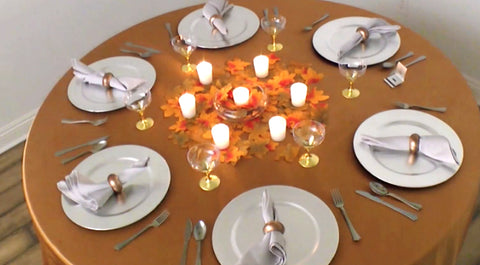 Round Table Autumn Tablesetting