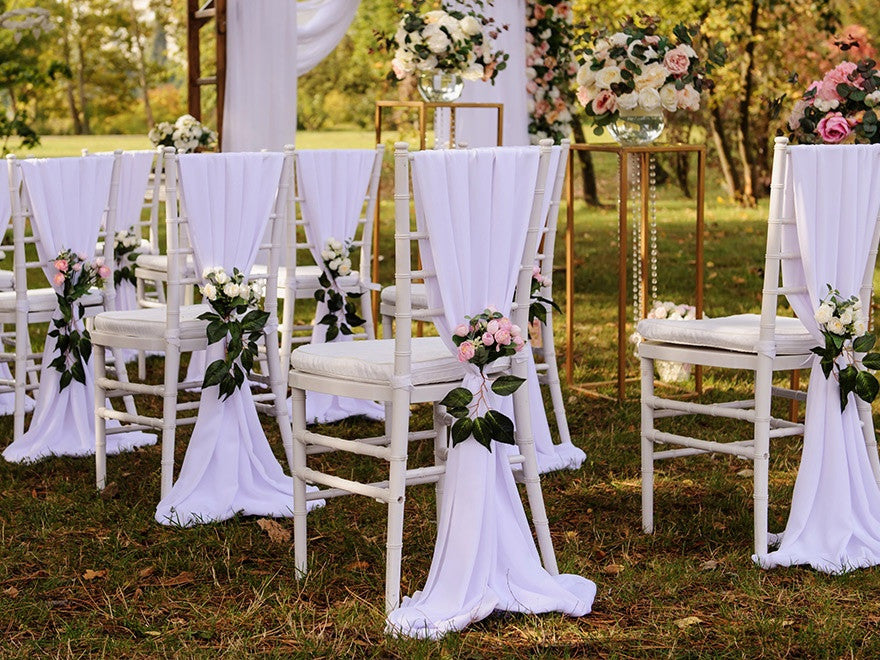 aisle decorations for outdoor wedding