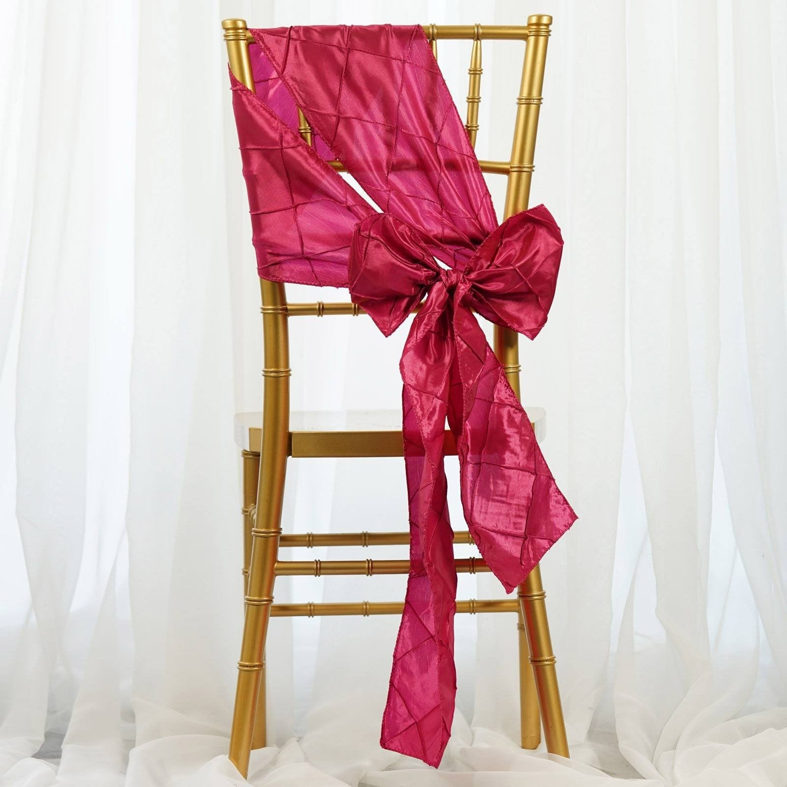 why use chair sashes