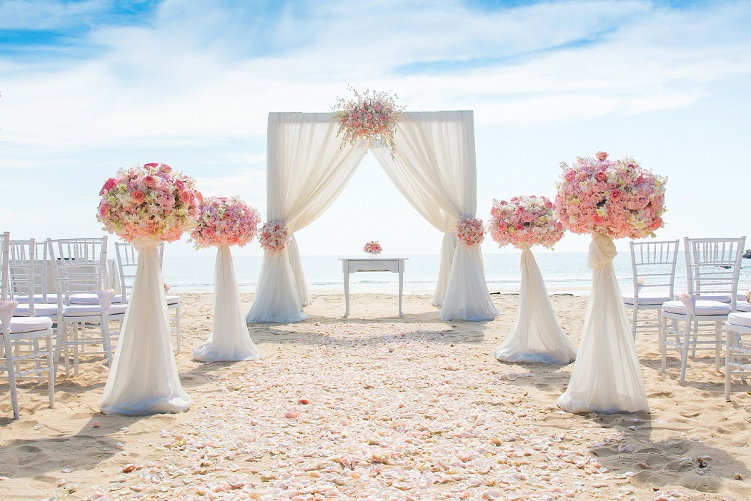 ourdoor wedding backdrop