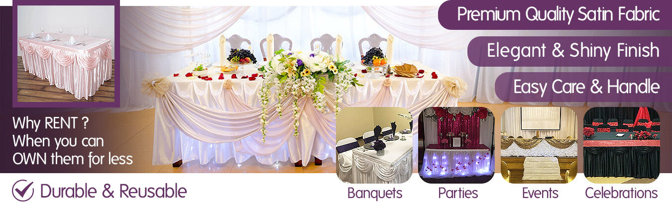 Satin Table Skirts