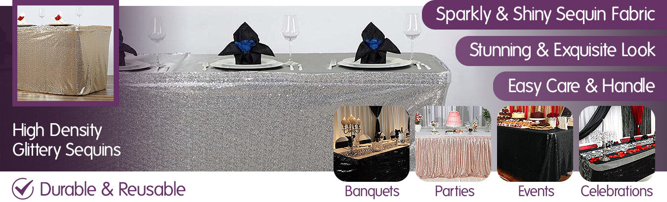Sequin Table Skirts