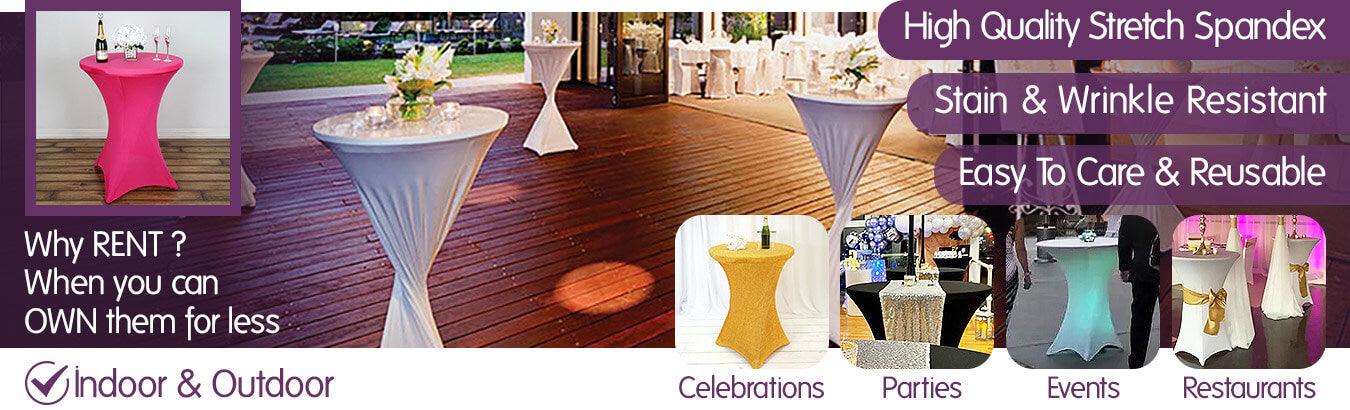 Spandex Cocktail Tablecloths