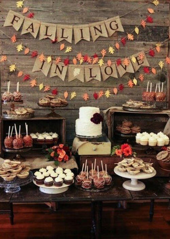 Rustic fall wedding decor