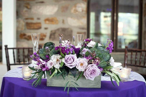 Purple themed decor