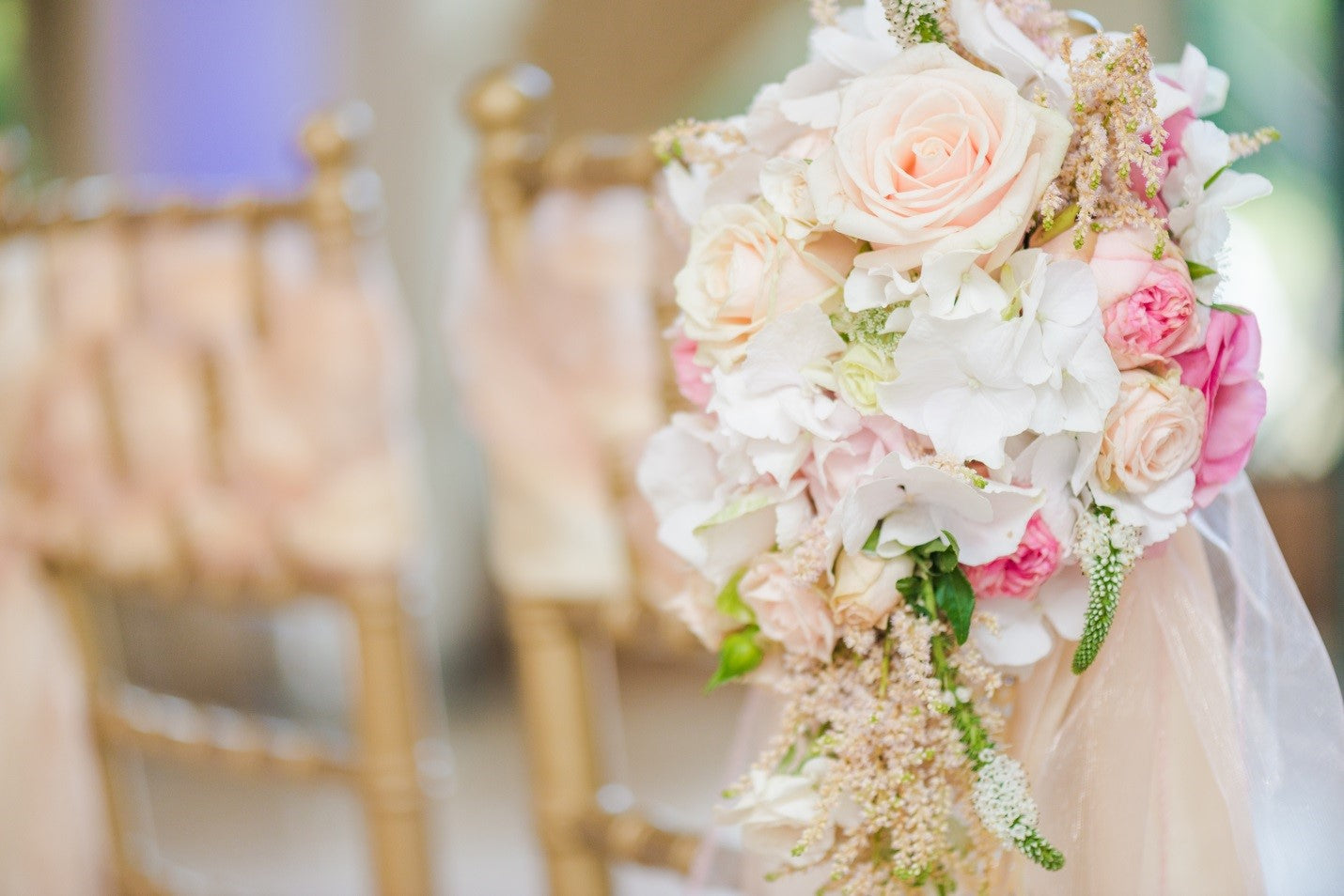 artificial flowers at wedding