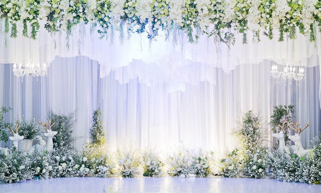 lighted wedding backdrops