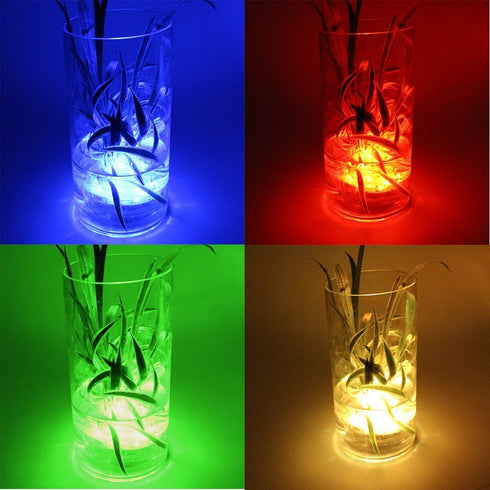 12 Pack | Blue Waterproof Battery Operated Submersible LED Lights