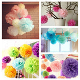 "12"" Paper Tissue Fluffy Pom Pom Flower Balls - 12pcs - Apple Green"