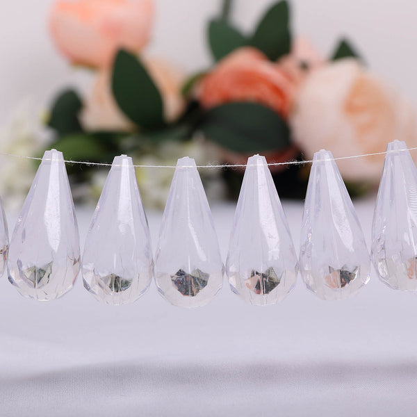 50 Pcs Clear Angel's Tears Acrylic Diamond