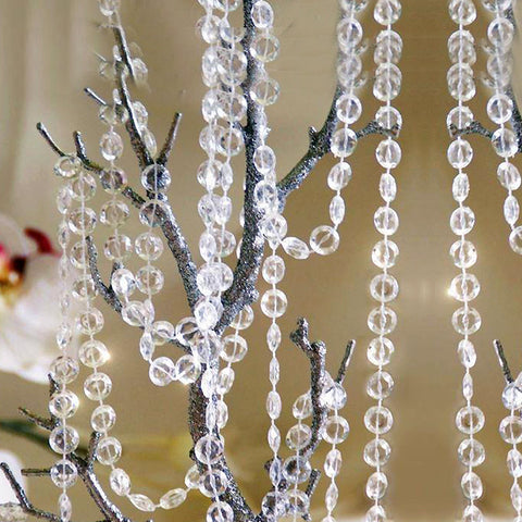 Endless Diamond Strand 10 Yards Clear Acrylic Diamond Dewdrops