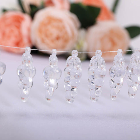 108 Pcs Grape Design Acrylic Crystal Garland