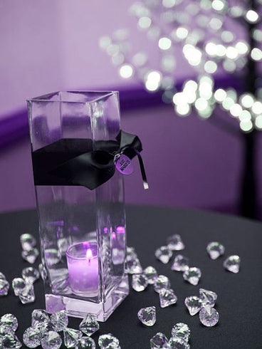 20mm Crystal Garland Acrylic Raindrops - Lavender - 240 PCS