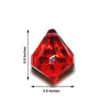Acrylic Teardrop Crystals | 240 PCS | 20MM | Red | Chandelier Raindrop Crystals