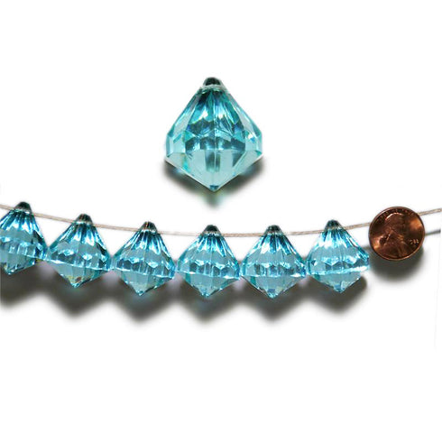 20mm Crystal Garland Acrylic Raindrops - Turquoise - 240 PCS