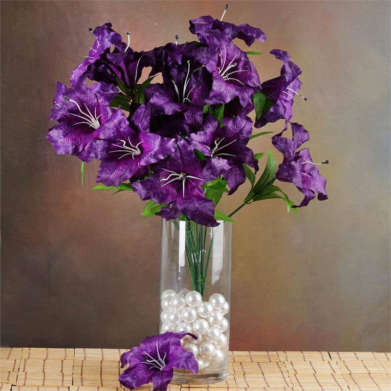 Lily Vase Wedding Flowers : Supersized casa blanca lilies purple efavormart