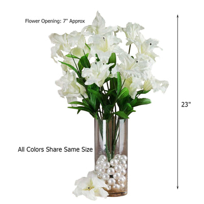 6 Bush 54 pcs Artificial Casablanca Lily Flowers