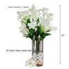6 Bush 54 pcs Red Artificial Casa Blanca Lily Flowers