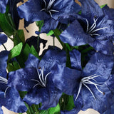 54 SUPERSIZED Casa Blanca Lilies Royal Blue
