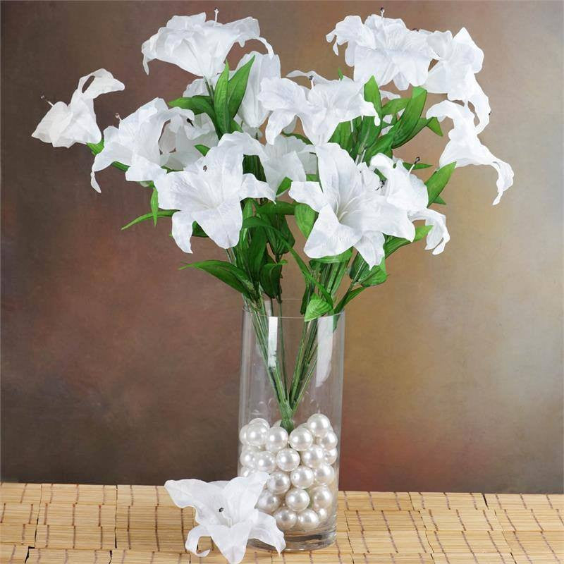 Lily Vase Wedding Flowers : Supersized casa blanca lilies white efavormart