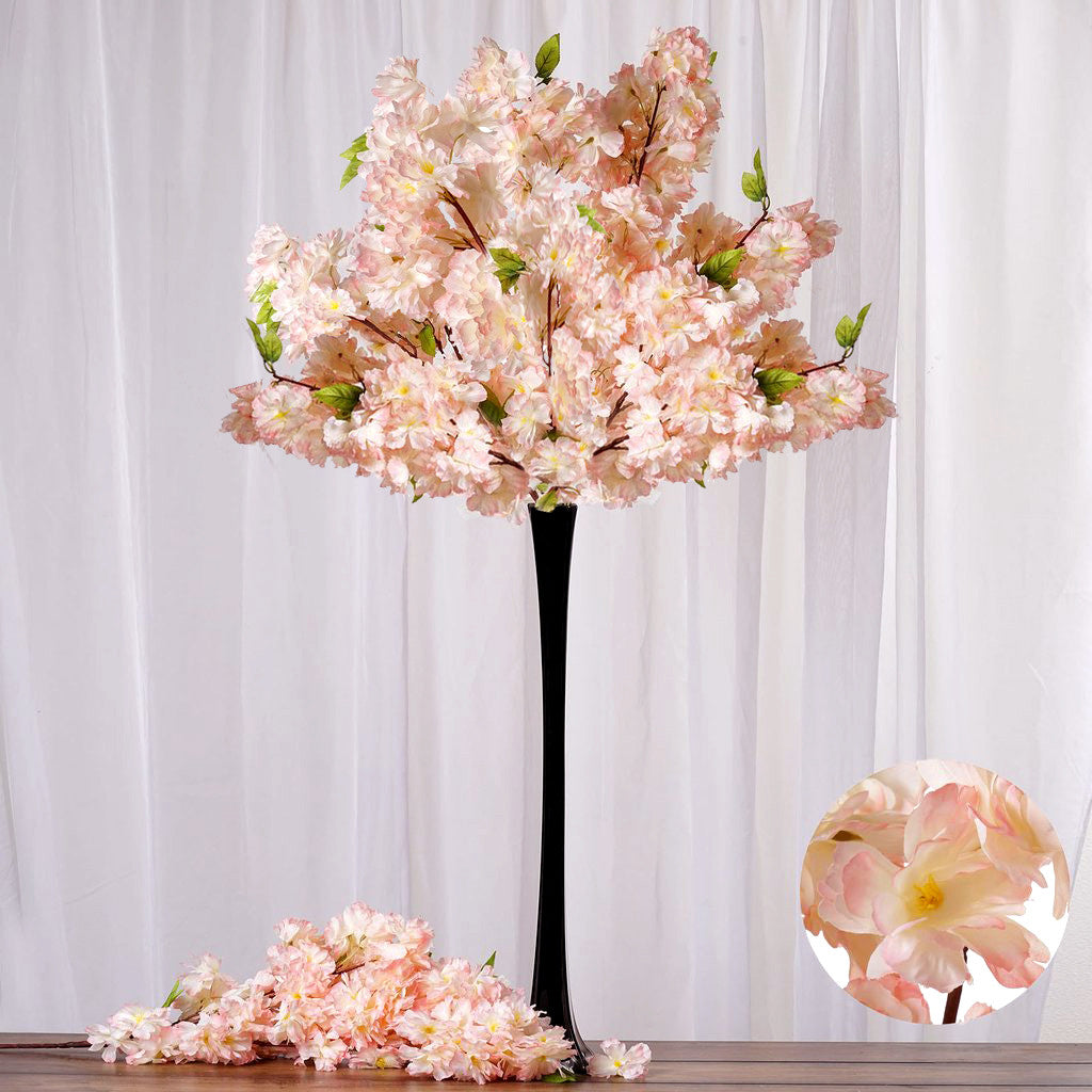 42 artificial cherry blossom flower branches wedding vase 42 artificial cherry blossom flower branches wedding vase centerpiece decor buy 1 get 3 free peach efavormart dhlflorist Image collections