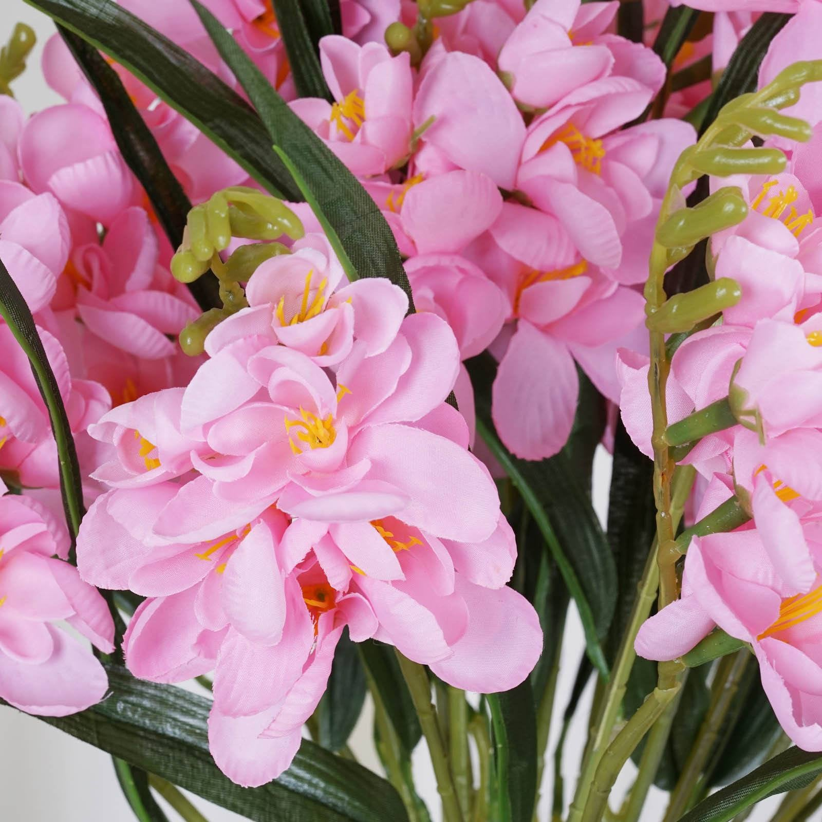 54 artificial freesia flower bushes pink efavormart 4 heavenly mount olympus freesia bushes pink mightylinksfo