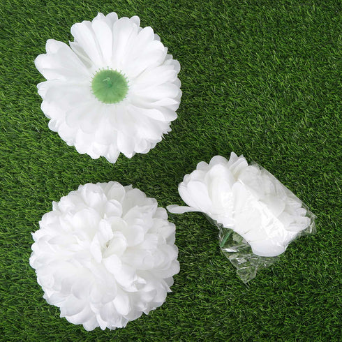 12 Pack White Artificial Super Large Silk Chrysanthemum Flowers
