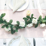 3D Chain Rose Garland - Cream