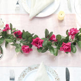 3D Chain Rose Garland - Fushia