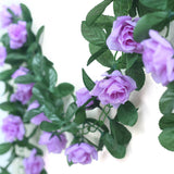 3D Chain Rose Garland - Lavender