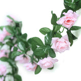 3D Chain Rose Garland - Pink