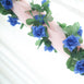 6 Ft Royal Blue Rose Chain Garland UV Protected Artificial Flower