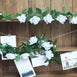 6 Ft White Rose Chain Garland UV Protected Artificial Flower