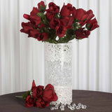Velvet Rose Buds-Black/Red-84/pk