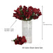 12 Bush 84 pcs Royal Artificial Velvet Rose Bud Flowers