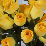 Velvet Rose Buds-Yellow-84/pk