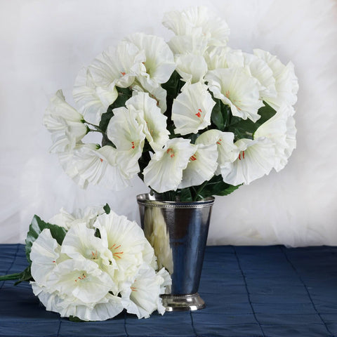 168 Splashy Petunia Flowers - Cream