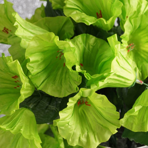 12 Bushes | 168 Pcs | Lime | Artificial Petunia Silk Flowers