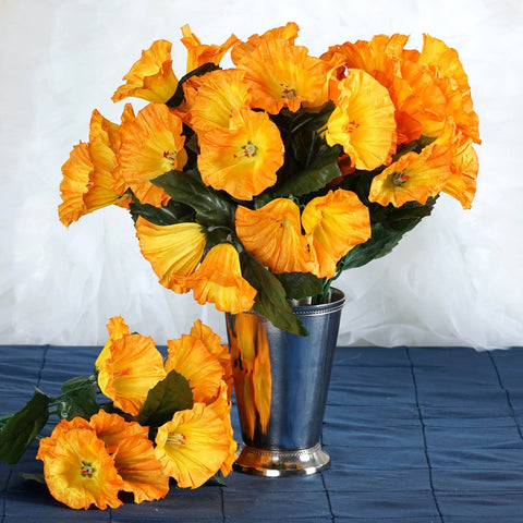 168 Splashy Petunia Flowers - Orange