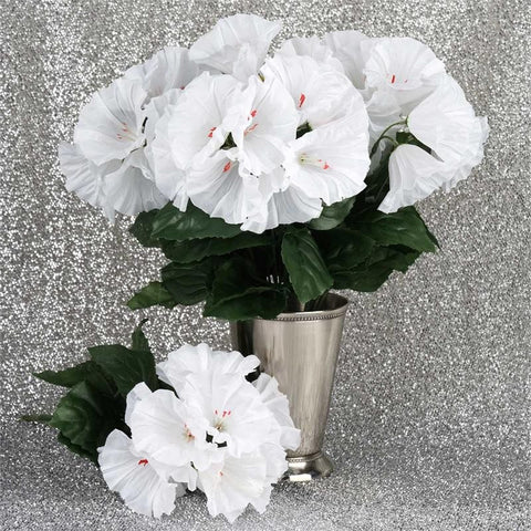168 Splashy Petunia Flowers - White